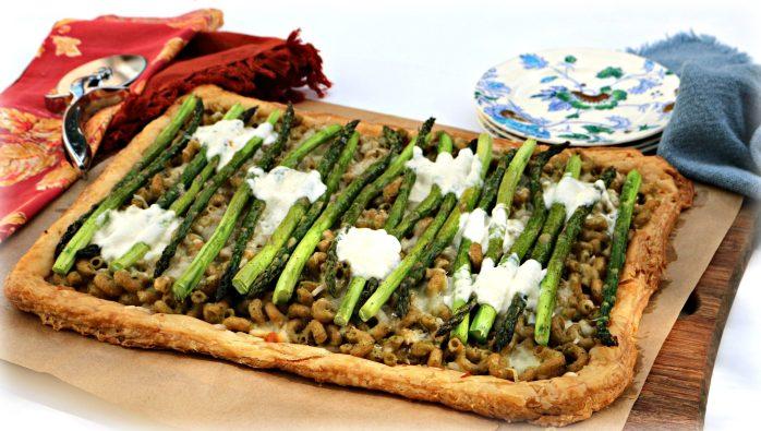 Asparagus Pasta Pesto Tart