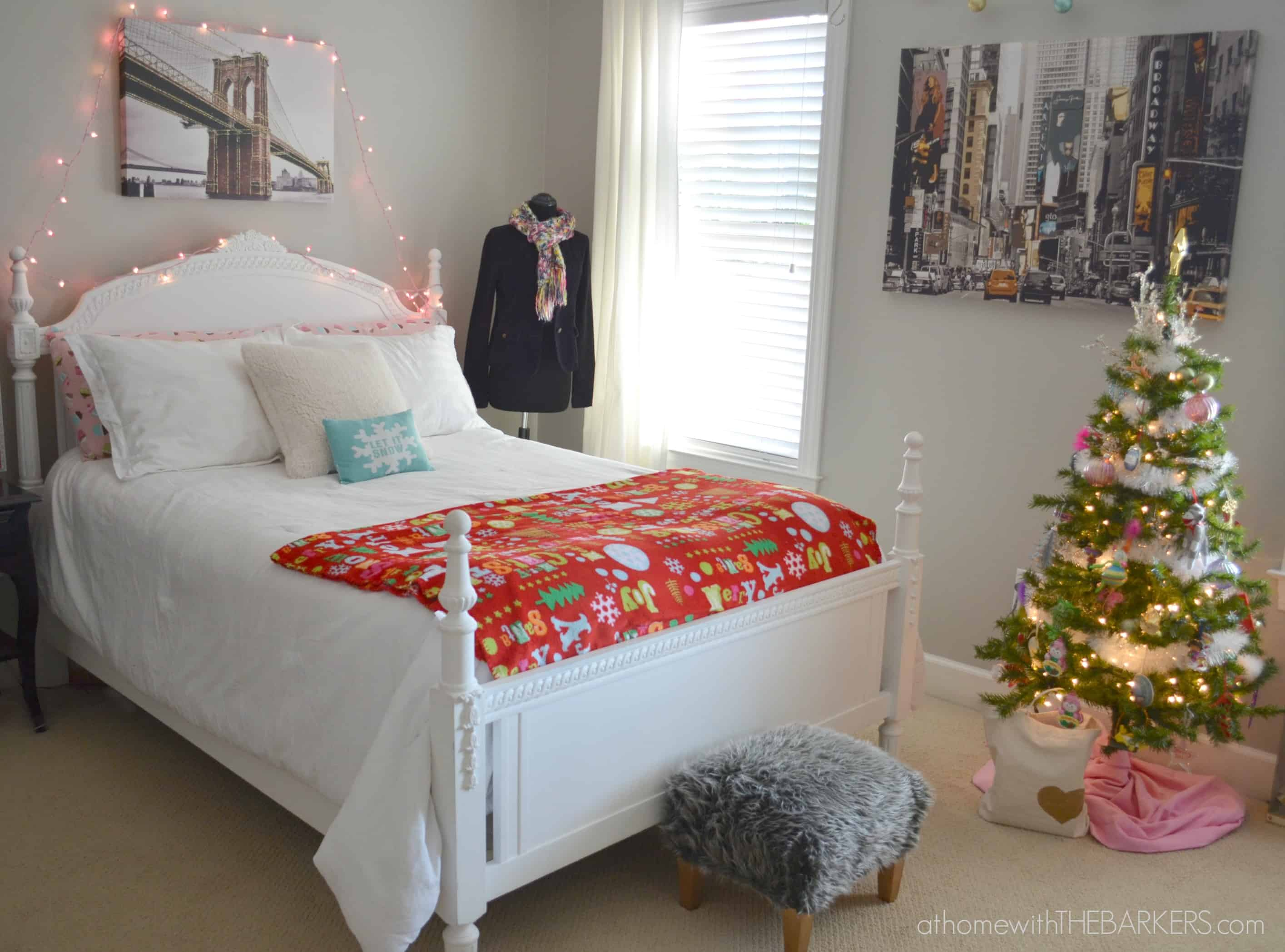 Holiday Decorating for teen girls-room tour - At Home with ... on Teen Room Decoration  id=89716