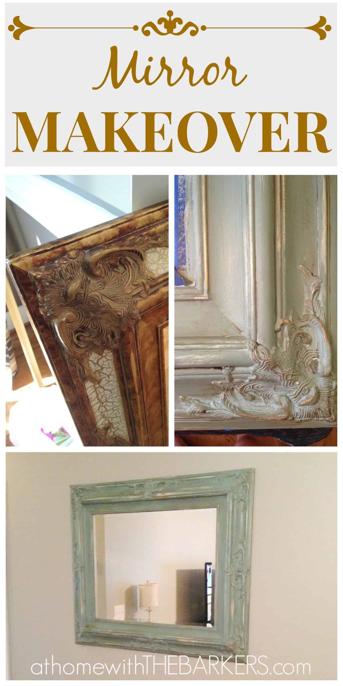 Mirror Makeover At Home With The Barkers