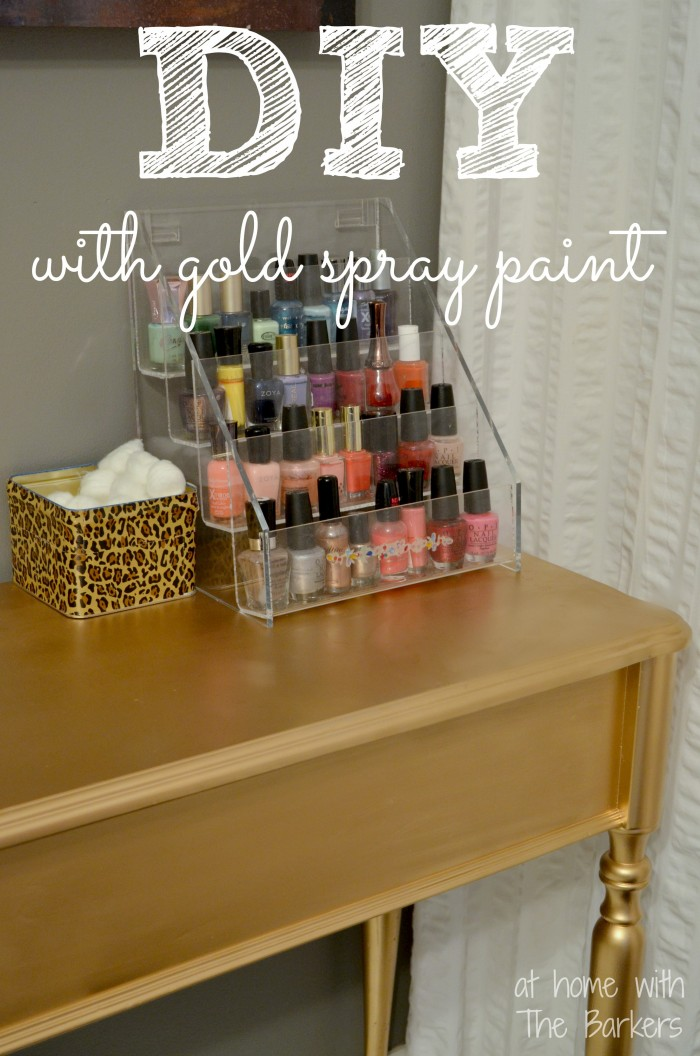 DIY Gold Painted Table