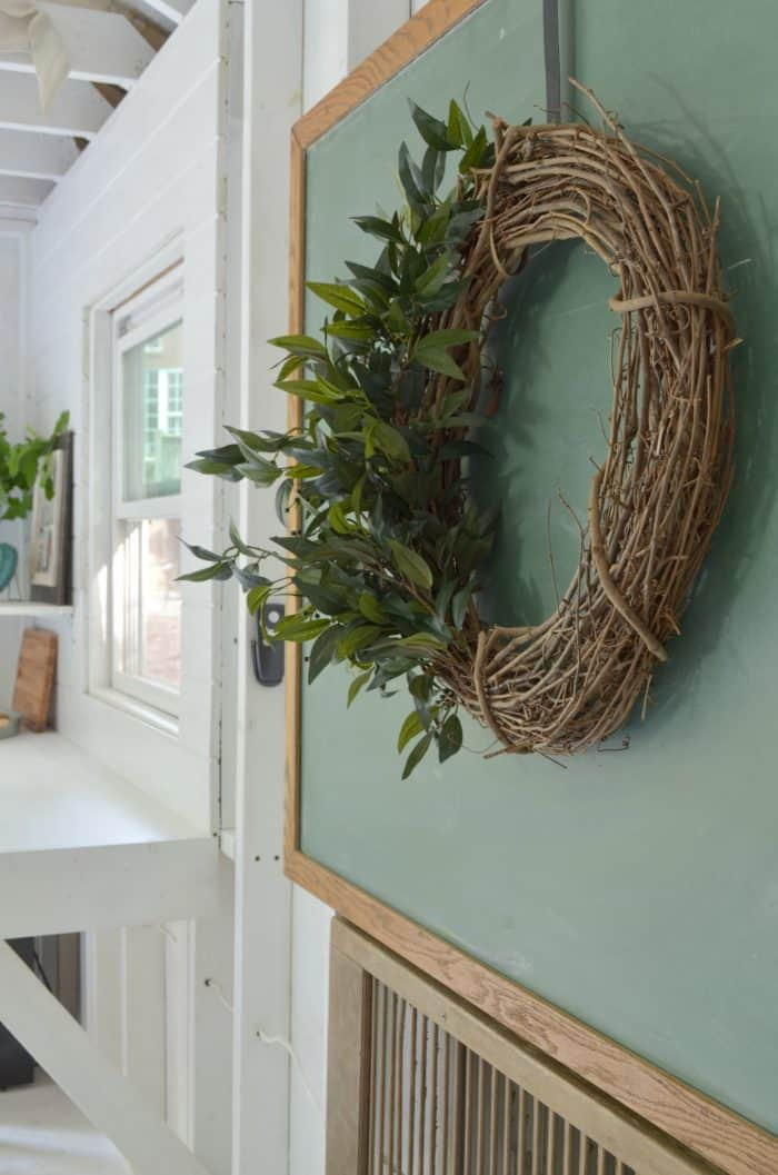 DIY Farmhouse Style Wreath At Home With The Barkers