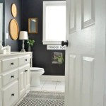 Bathroom Makeover With Black Painted Walls At Home With The Barkers