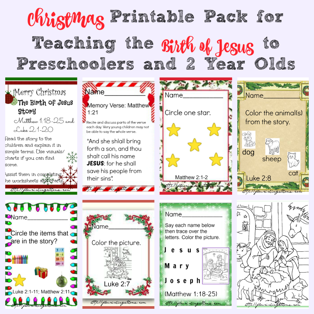 Printable Christmas Pre School Worksheets For Teaching The