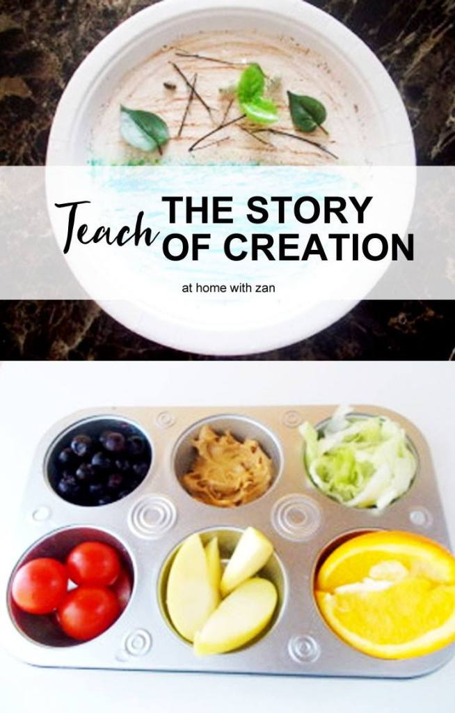 How to Teach the Story of Creation, Interactive Creation Story Lesson for Kids! by @athomewithzan