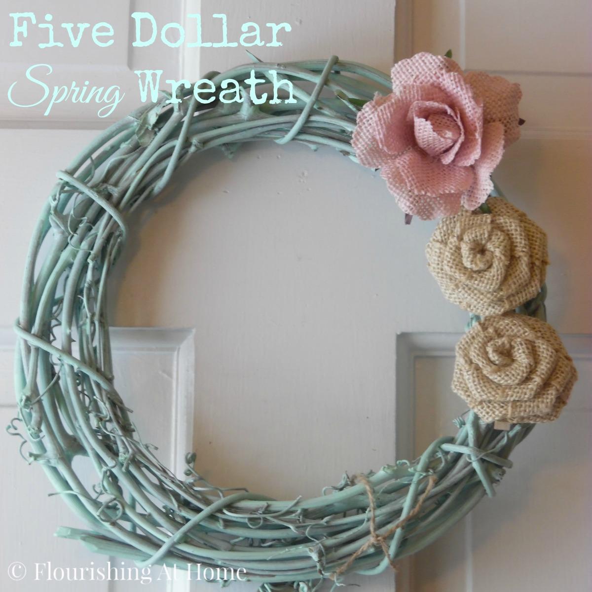 5 Dollar Spring Wreath