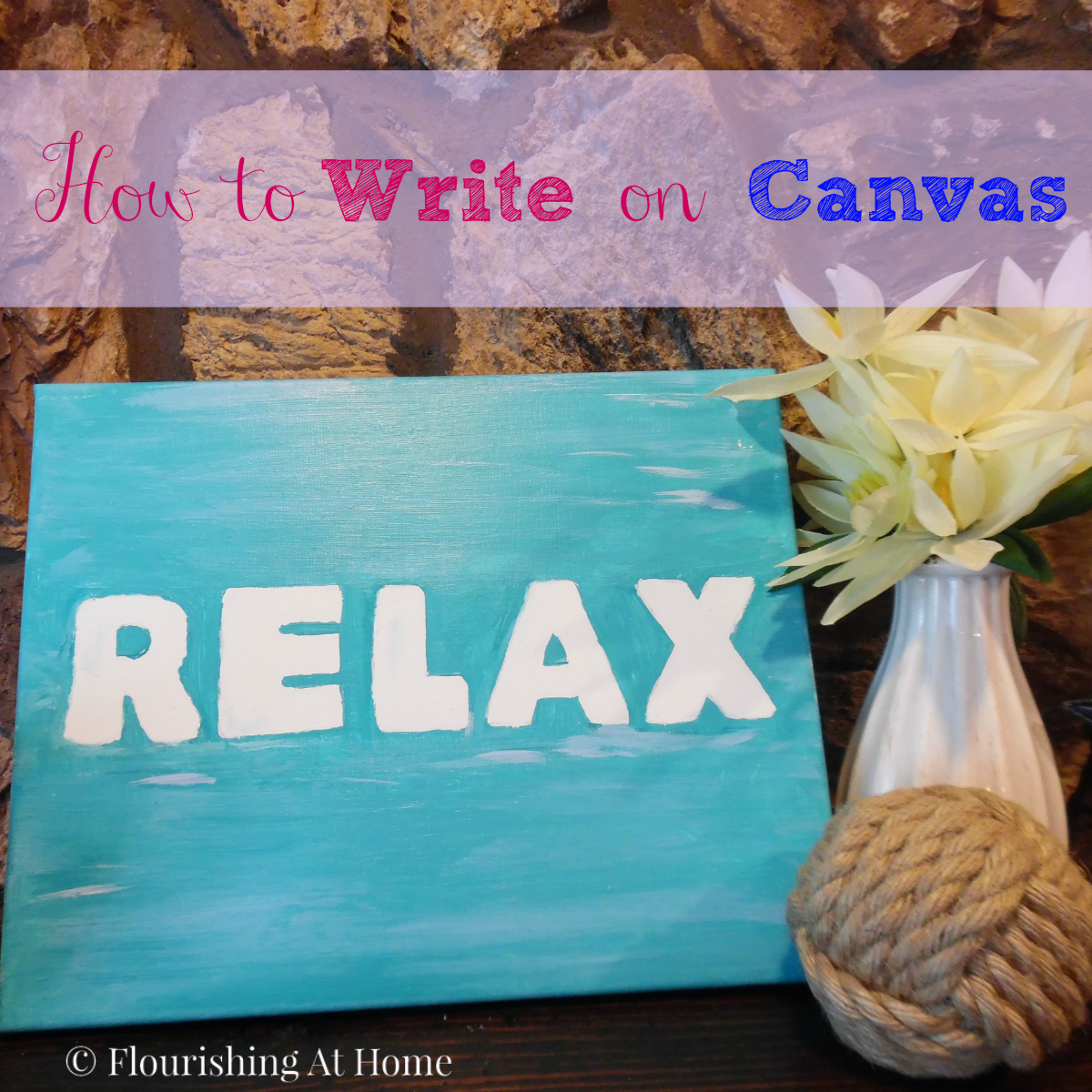 How to write on canvas - beach sign