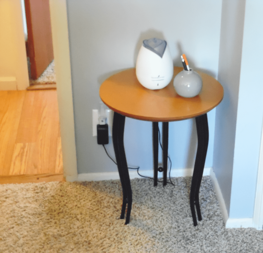 master bedroom entry way table