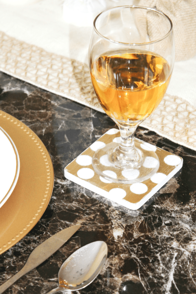 diy-polka-dot-coasters-in-the-dinning-room