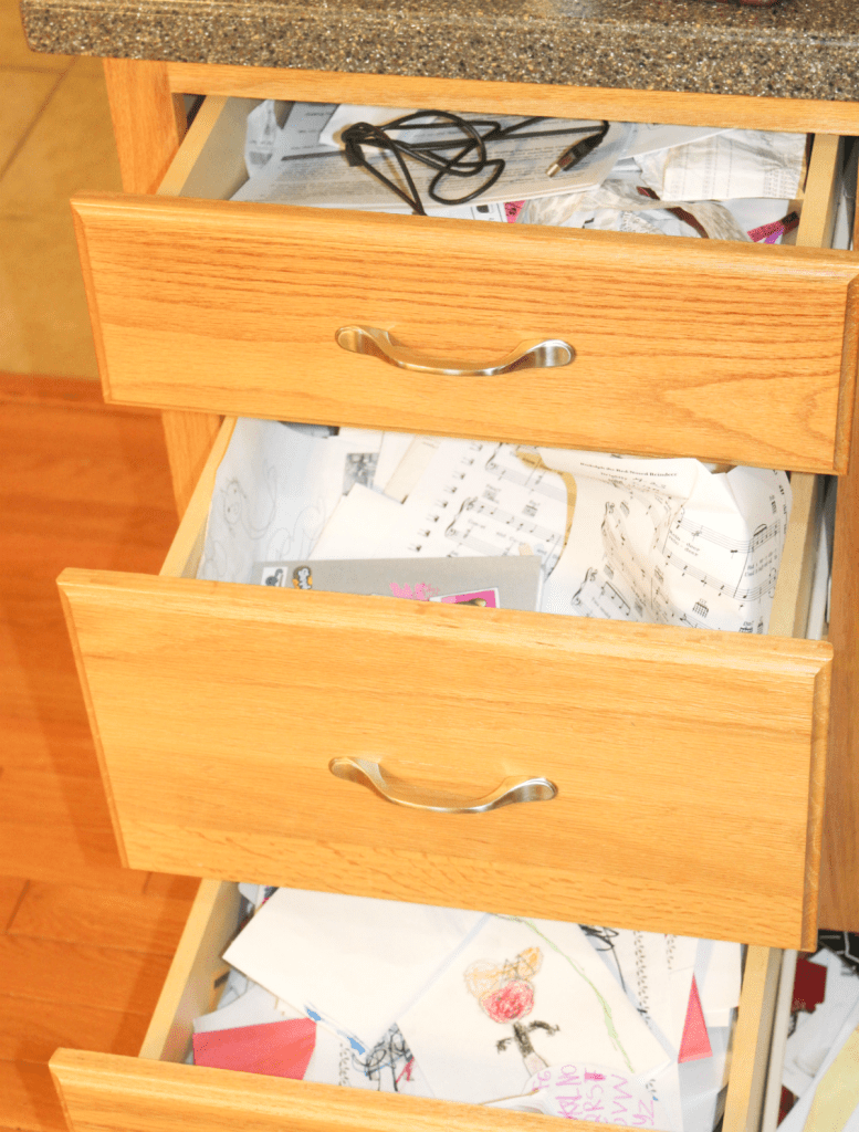 Disorganized drawers