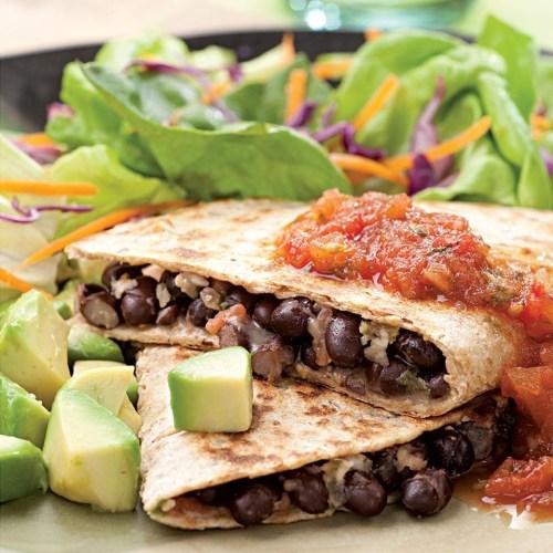 3926485Black Bean Quesadillas - Eating Well