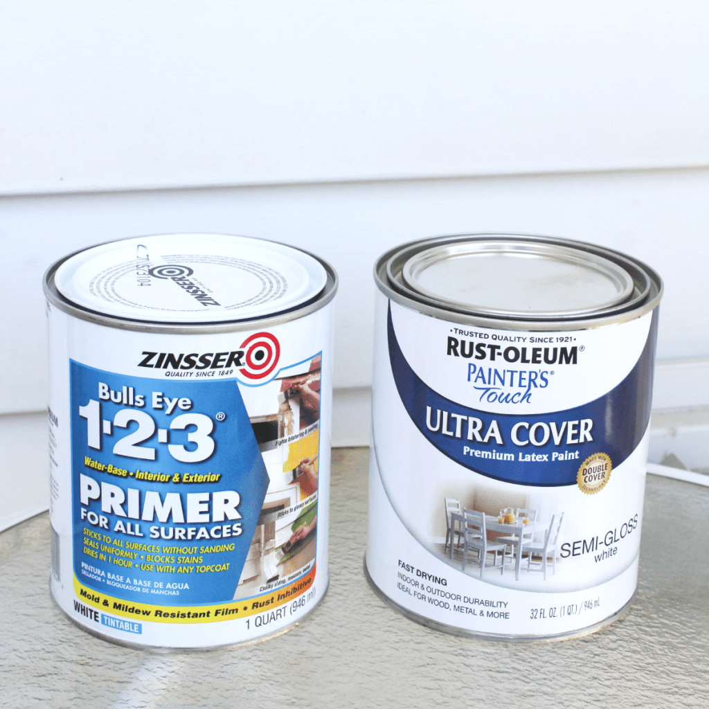 Small Chair Makeover - Primer & Paint - At Home With Zan