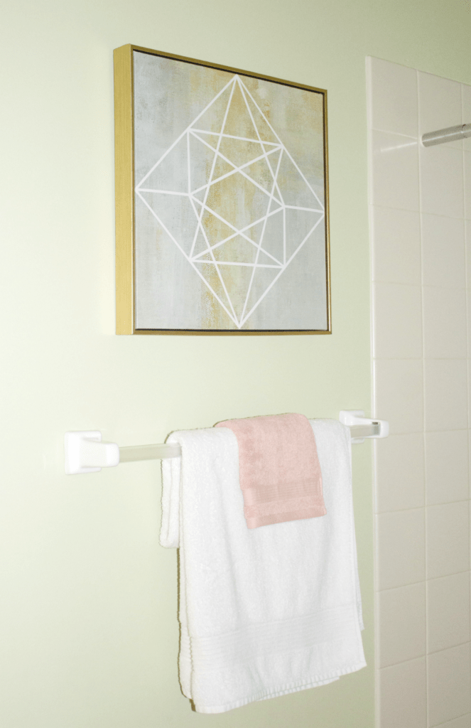 Small Bathroom Refresh - Modern Decor - Wall Art - At Home With Zan