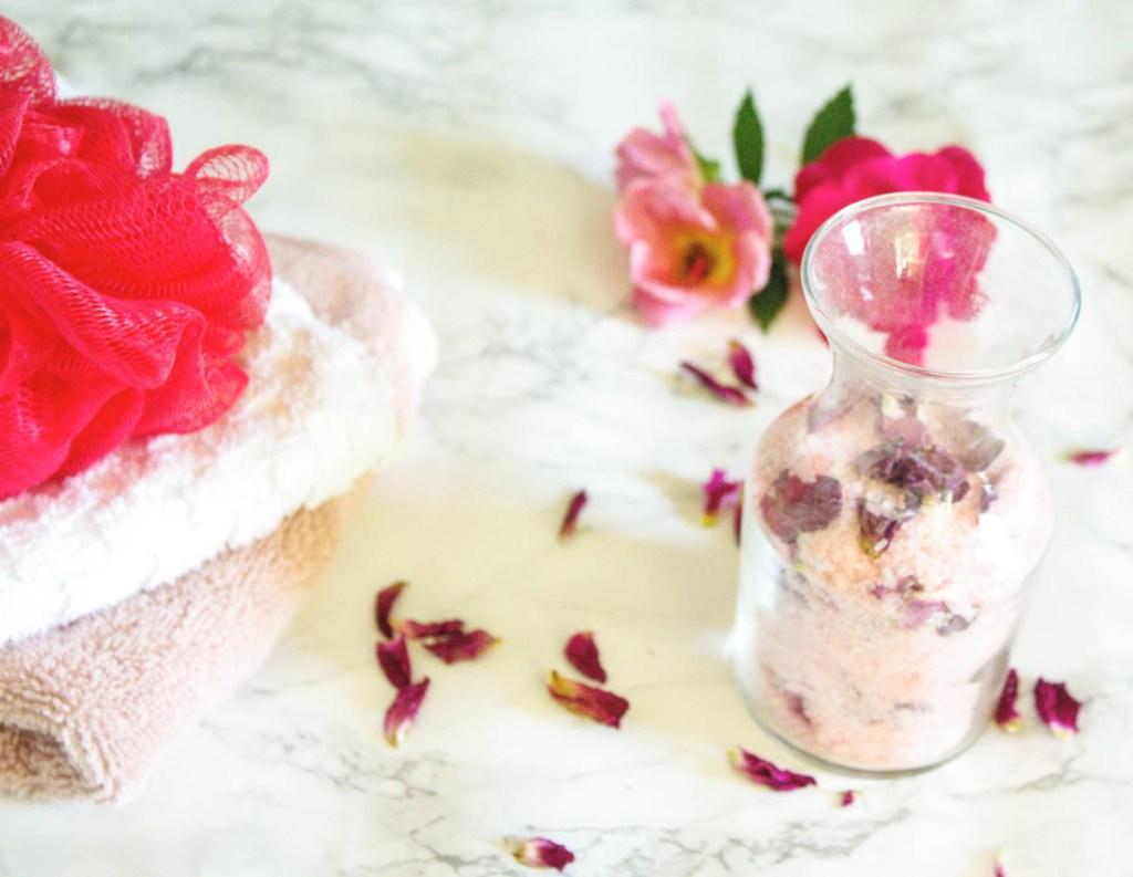 Rose Petal Bath Salts - At home With Zan-