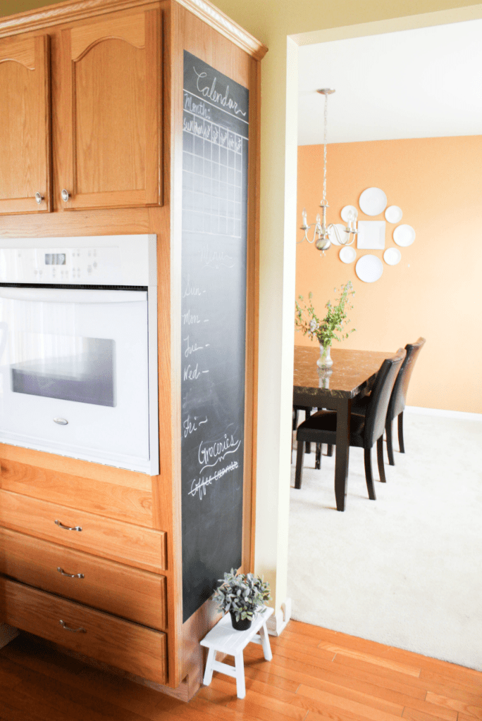 Kitchen Tour - Chalkboard Menu Wall -At Home With Zan