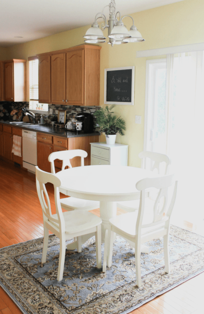 kitchen Tour - Breakfast Table - At Home With Zan