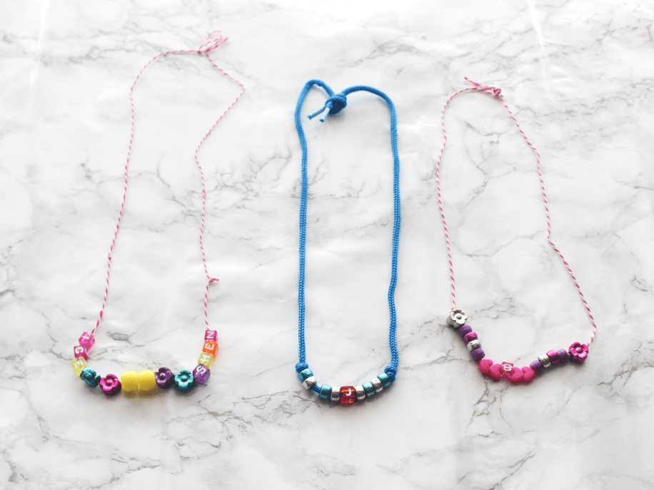 DIY Necklaces - Valentines Friendship Necklaces - At Home With Zan