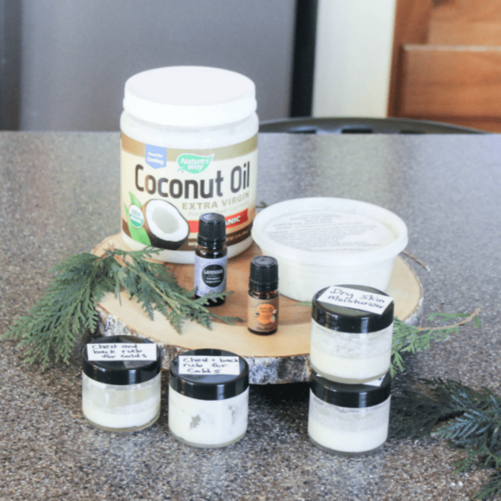 Homemade Natural Rub - With Coconut Oil - Shea Butter - Essential Oils - At Home With Zan