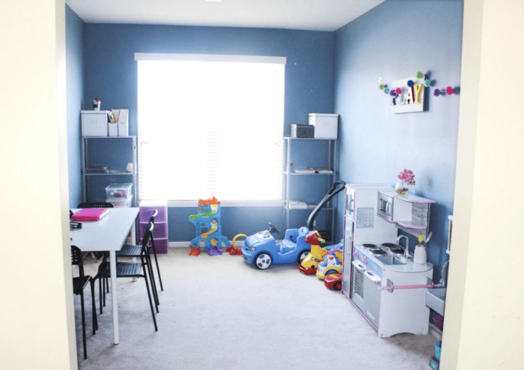 Homeschool - Homeschool Room Organization - Books and School Essentials - At Home With Zan