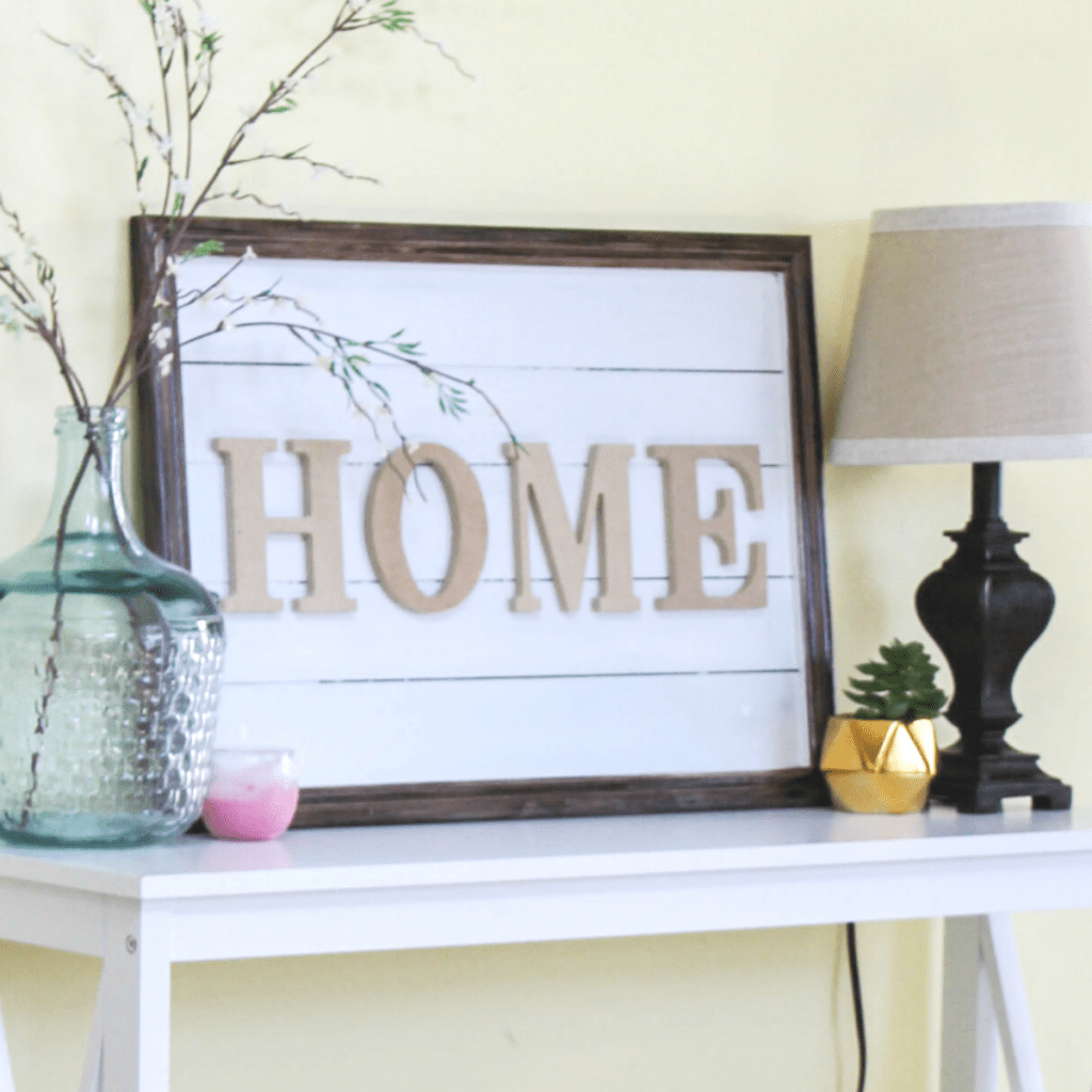 DIY Sign for Home - Home Decor - At Home With Zan-