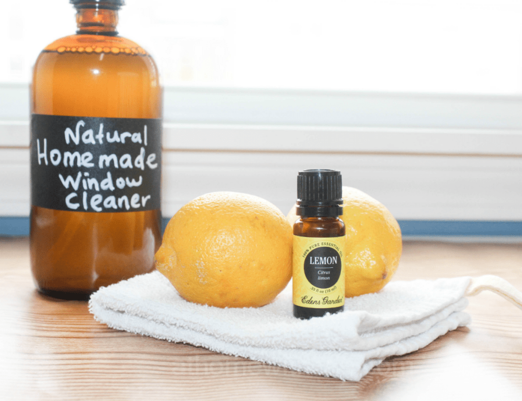 Homemade Window Cleaner - Streak Free - With Lemon - Essential Oil - All-Natural Window Cleaner - At Home With Zan-