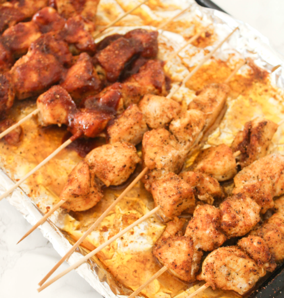 Oven Baked -Chicken Skewers - At Home With Zan-