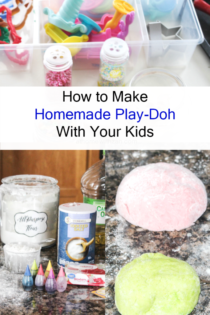 How to Make Homemade Play-Dough - With Your Kids - At Home With Zan