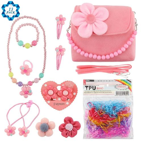 Flower Purse and Necklace Set - Holiday Gift Guide for 3-5 Year Olds - At Home With Zan