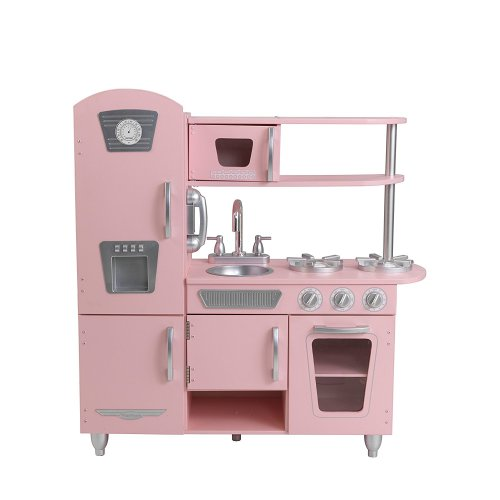 KidKraft Vintage Play Kitchen in Pink - Holiday Gift Guide - Holiday Gifts for 3-5 Years Old - At Home With Zan