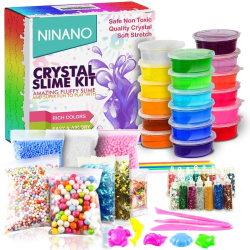 Make Your Own Slime Kit - Holiday Gift Guide for6-8 Year Olds - At Home With Zan