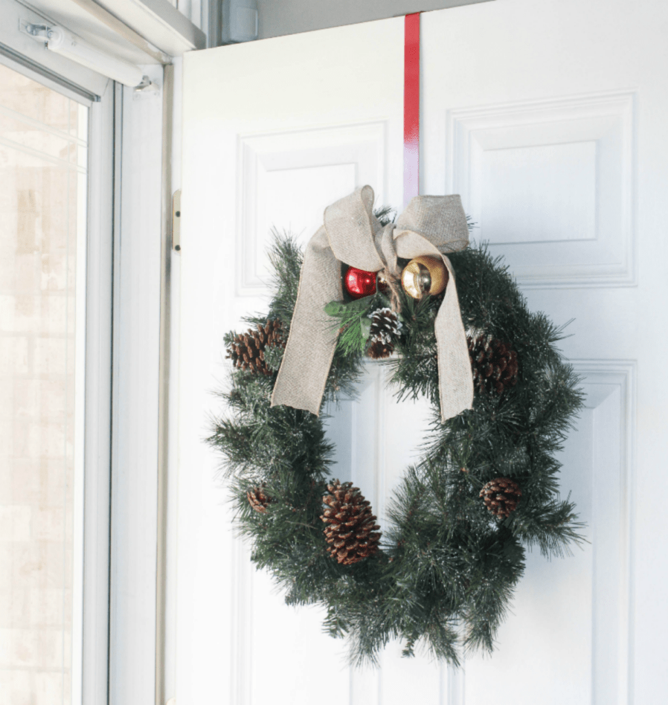 Holiday Home 2018 - Holiday Wreath - Front Door - At Home With Zan