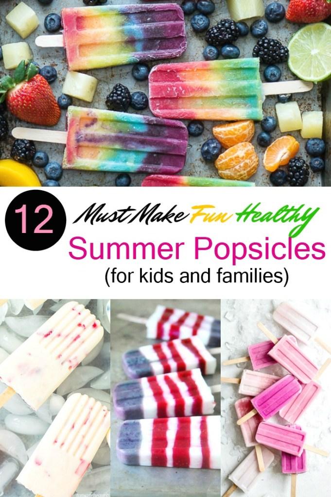 healthy summer fruit popsicles
