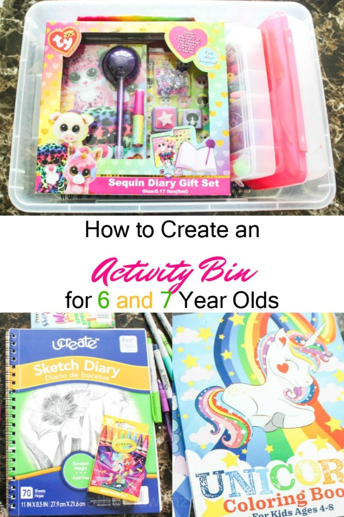activity bin for 6 & 7 year olds