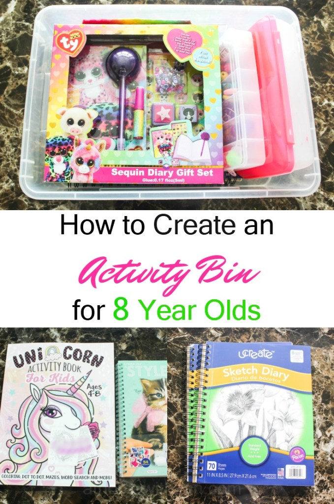 Activity bins for 8 Year Olds - Quiet Time Bins