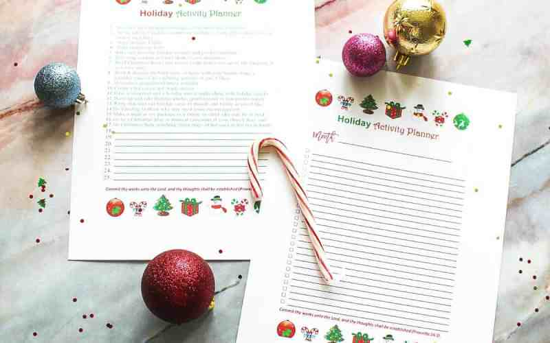Free Printable – Holiday Activity List Planners for Families
