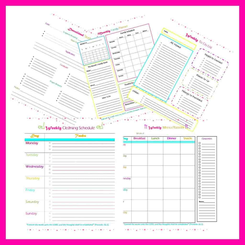 Free Productivity Printables