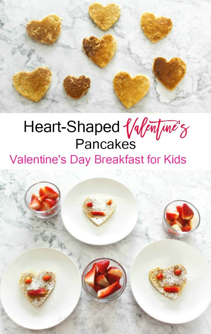 valentine's breakfast pancakes