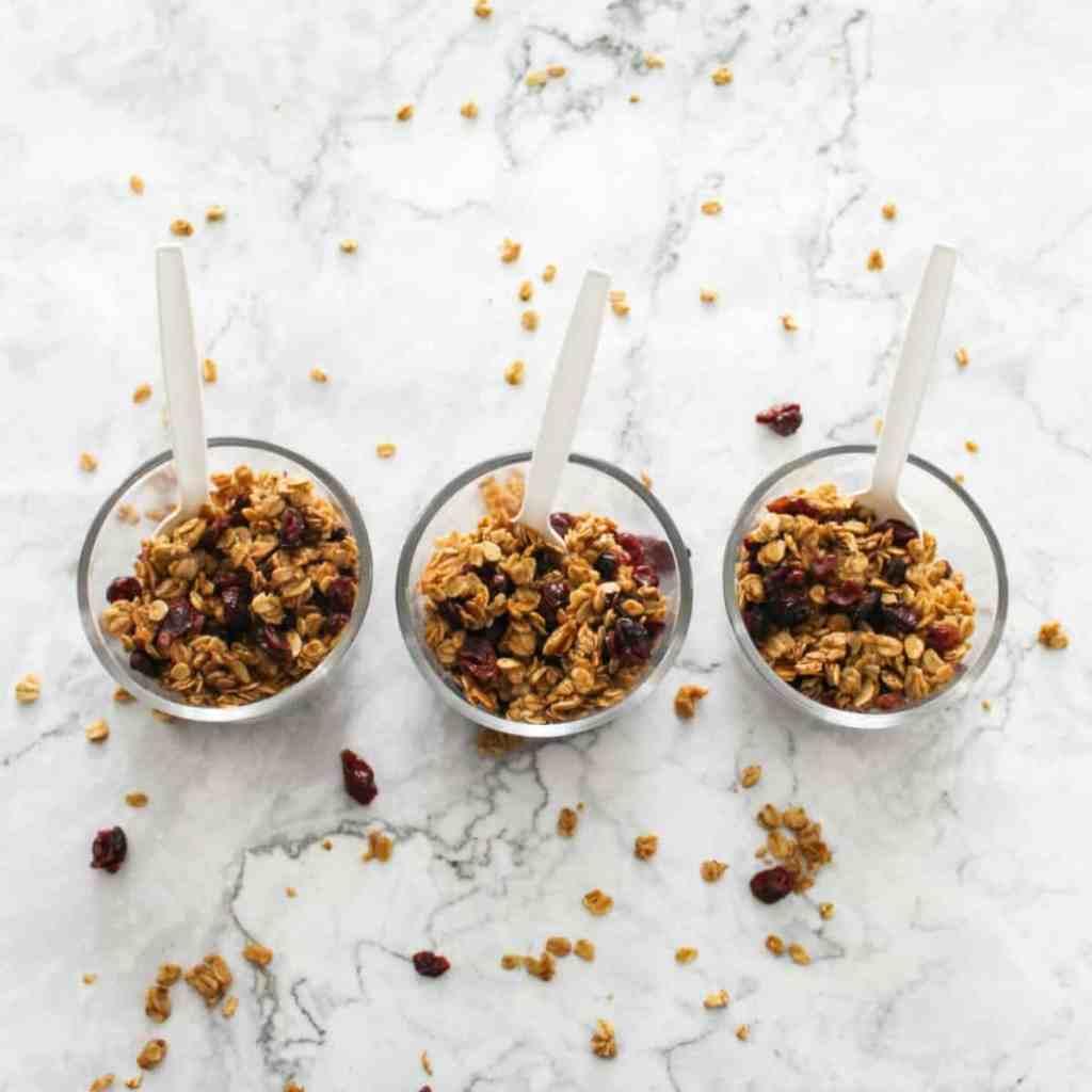 granola snack bowls
