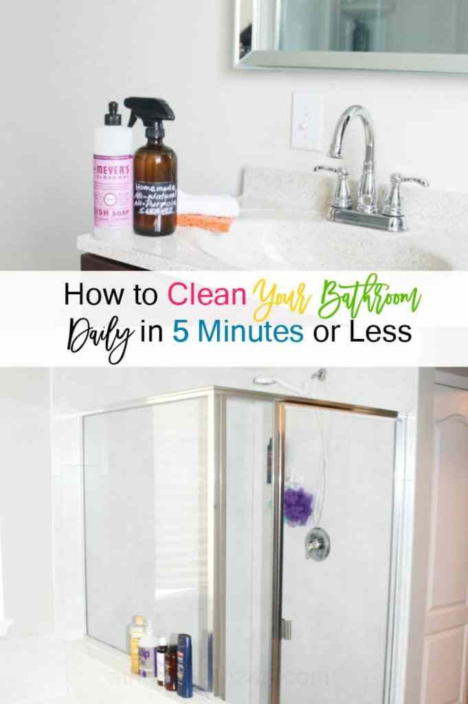 How to Clean Your Bathroom in 5 Minutes or Less - Speed Clean Your Bathrooms - athomewithzan.com