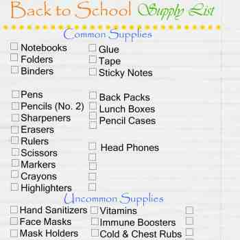 Back to School Supply Lists - 2020 School Supply List - athomewithzan.com