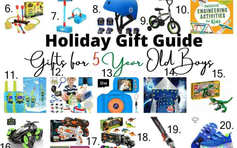 Holiday Gift Guide – Gifts for 5 Year Old Boys