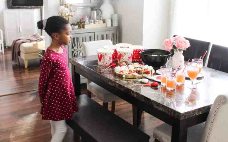 Valentine's  Snack Party at Home for Kids & Families