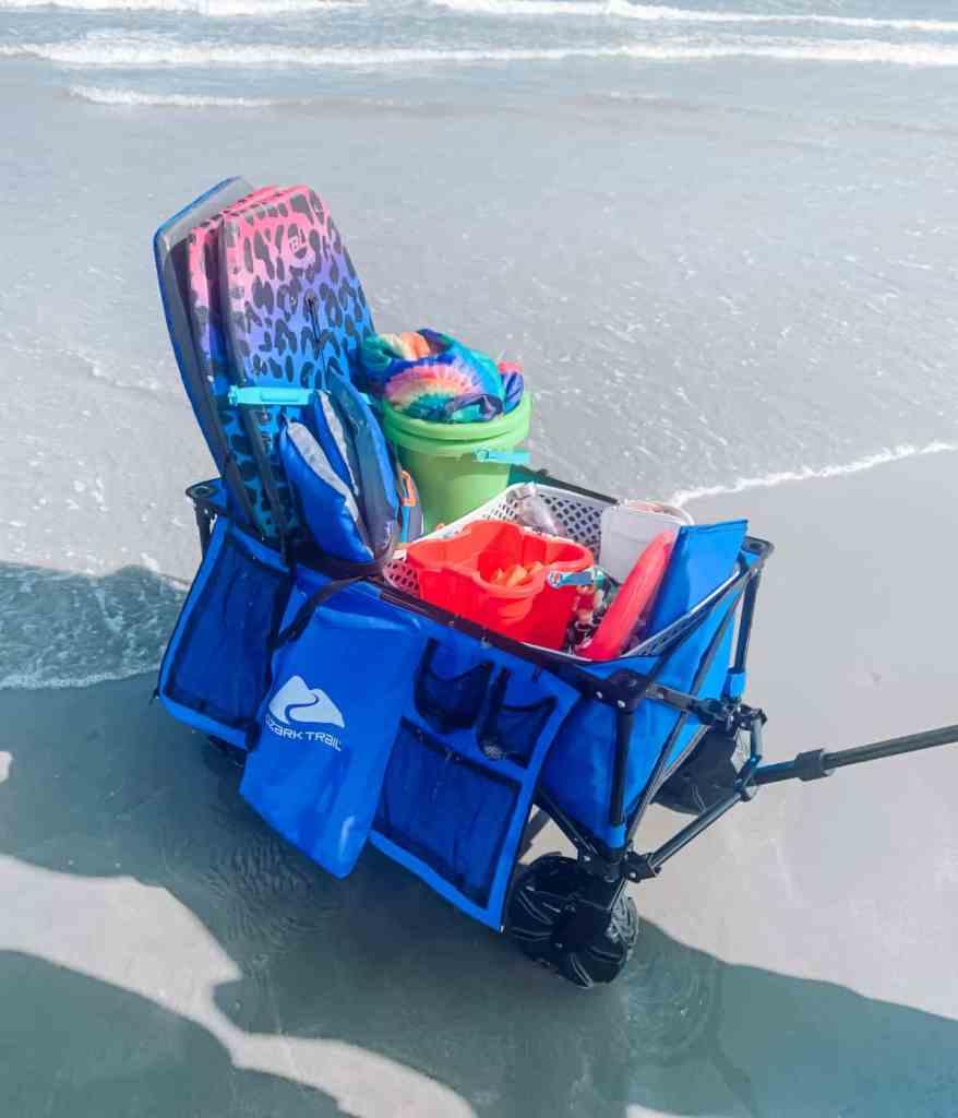 Ozark Trail Camping All-Terrain Folding Wagon with Oversized Wheels - Ozark Trail Folding Wagon - Travel Cart - Camping Wagon - Beach Carrier - Mommy Essentials - Beach Tote - athomewithzan (30)