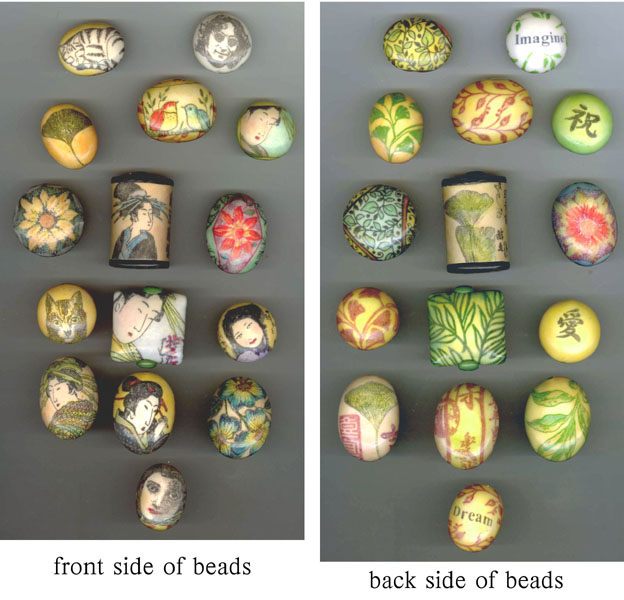 faux porcelain polymer clay beads