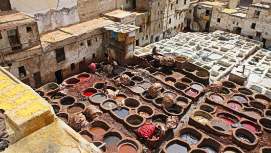 Fez Tannery - Fez, Morocco
