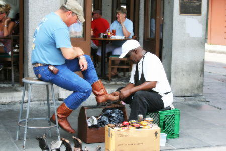 Shoe Shine Man