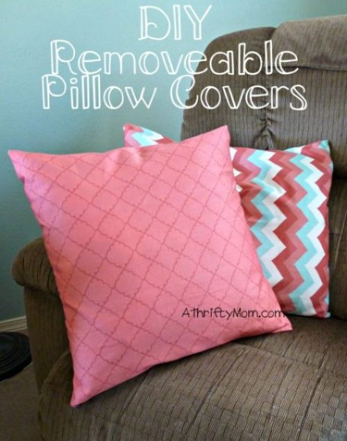 Diy Removable Pillow Covers Pillows Thrifty Decorating Tutorial Throw