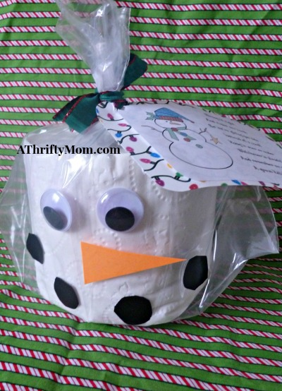 Snowman Toilet Paper Christmas Card Thrifty Neighbor Gift