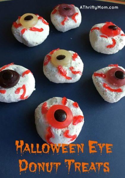 Halloween Eye Donut Treats Easy Halloween Party Food A