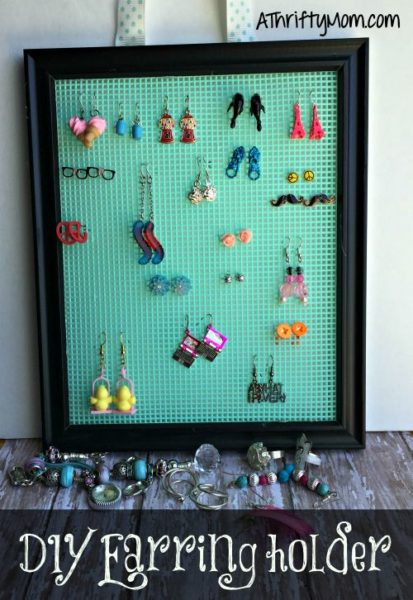 DIY Earring Holder So Easy And Thrifty
