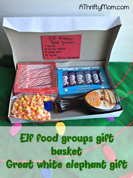 Elf 4 Basic Food Groups Gift Basket Great White Elephant
